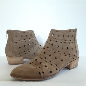 Michael Michael Kors Uma Suede Leather Tan Booties